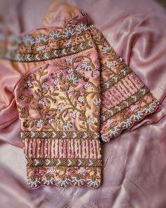 Silk Kurti Designs, Wedding Saree Blouse Designs, Pattu Saree Blouse Designs, Fancy Blouse Designs, Blouse Neck Designs, Sari Blouse, Hand Work Blouse Design, Stylish Blouse Design, Magam Work Designs