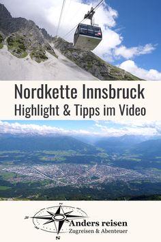 (Anzeige) Lust auf alpine Abenteuer in der Stadt? Die Nordkette erreichst Du mit drei spannende Seilbahnen direkt aus der Stadt Innsbruck. Eines der Highlights ist der 360 Grad Blick auf Innsbruck, das Inntal und das Karwendelgebirge. #myinnsbruck #innsbruck #berge #nordkette #tirol #UrlaubOhneAuto Innsbruck, 360 Grad, Reisen In Europa, Highlights, Hotels, Mountains, Nature, Travel, Holiday Destinations