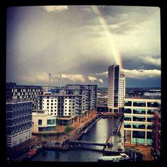 I live at the end of the rainbow :D not rich yet though :( Leeds, New York Skyline, My Photos, Rainbow, London, Live, Travel, Viajes, Rain Bow
