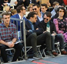 Lee Pace and Richard Armitage at the Hollywood Walk of Fame ceremony for Peter Jackson, Dec. 8, 2014.