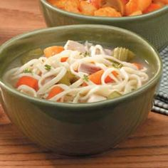 Hearty Chicken Noodle Soup.