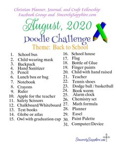 August 2020 doodle challenge download here