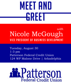 Patterson Federal Credit Union Meet and Greet. Arkadelphia Alliance and Chamber of Commerce.