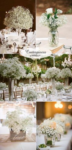 baby's breath inspired wedding centerpiece ideas