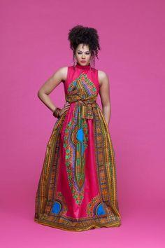 Dasmina African Print Opuwo Maxi Dress