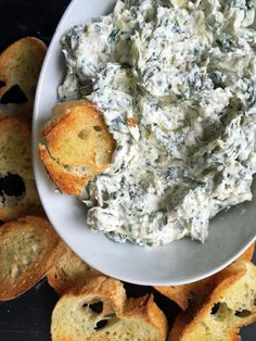 Alton Brown's Hot Spinach and Artichoke Dip Recipe: This is probably my favorite dip of all time. And I hate to admit that when it's cold and stiff, I sometimes make sandwiches out of it. Don't judge me!