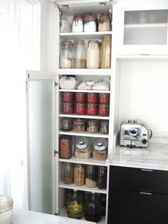 This makes me want to run out and buy a whole bunch of Le Parfait canning jars for my pantry.