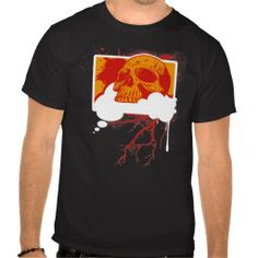 Think Good Thoughts Grunge Vector Skull Shirt (more styles available) #vector #shirt