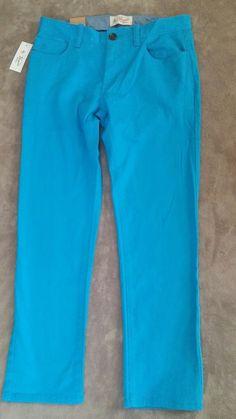 Penguin Mens Pants Turquoise Blue Slim Stretch Original NWT  #Penguin #Pants