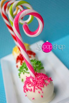 """Candy Canes with PoP"" original creation by Le Pop Shop https://www.facebook.com/LePopShop"