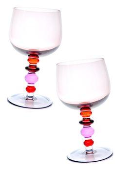Spectra Wine Glass Set in Rose