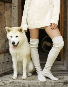 If I lived in a winter wonderland, I'd wear this all year round...and always have a husky at my side