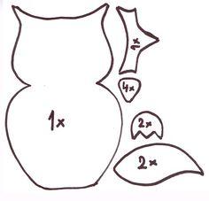Šablona - sova Diy And Crafts, Snoopy, Halloween, Fictional Characters, Petra, Ms, English, Education, Animals