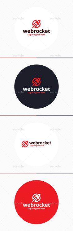 Web Rocket Logo — Photoshop PSD #galaxy #advantage • Available here → https://graphicriver.net/item/web-rocket-logo/9918033?ref=pxcr