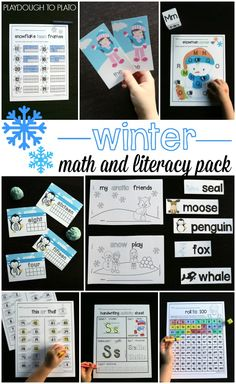 I love this winter math and literacy pack. Alphabet activities, sight word games, little readers, math games... Perfect for a kindergarten winter unit!