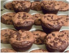 Brownie Cookies ... just boxed brownie mix on the bottom of about 20 sprayed muffin tin holes then top with packaged cookie dough slices (round).  follow baking directions on brownie box. mmmmmmm!!