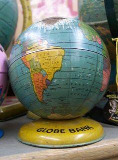 Globe Bank. , Globe Maker: J. Chein & Co.; Cartographer: Chein, J. & Co. (Published: J. Chein & Co.  c1935. [Burlington, NJ])