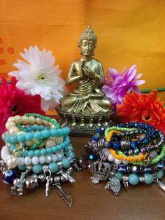 Pulseiras @simstore_oficial transmitindo boas vibrações. Buda ❤