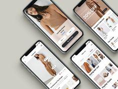 Athena Fashion E-commerce Mobile App UI Design by Zeus Digital on Dribbble Web Design, App Ui Design, Media Design, Graphic Design, Mobiles, Design Responsive, Mobile App Ui, Mobile Web, Mobile Ui Design