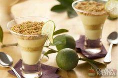 Receita de Pavê de limão no copinho em receitas de paves, veja essa e outras receitas aqui!