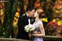 Karole & George's October 2014 #wedding at the Community Presbyterian Church and the Hamilton Park Hotel =D (photo by deanmichaelstudio.com) #love #fall #purple #black #photography #deanmichaelstudio