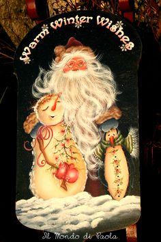 Warm Winter Wishes dipinto a mano da un progetto di Jamie Mills Price
