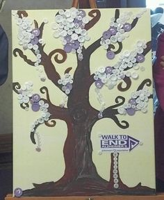 Support the walk to end Alzheimer's! I made this with my residents at the nursing home i work at. Senior Activities, Work Activities, Activity Ideas, Alz Walk, Alzheimer's Day, Craft Projects, Projects To Try, Craft Ideas, Walk To End Alzheimer's