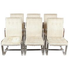 Stunning Vintage Hollywood Regency Lucite High Back Dining Chairs, Set of Six | From a unique collection of antique and modern dining room chairs at https://www.1stdibs.com/furniture/seating/dining-room-chairs/