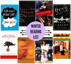 Winter Reading List. A lot of these were on my own reading list too!