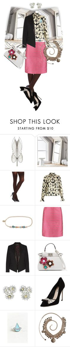 """""""Freestyle"""" by rita257 ❤ liked on Polyvore featuring Agent Provocateur, PBteen, SPANX, TradeMark, RED Valentino, Saloni, Equipment, Fendi, Gucci and Miu Miu"""