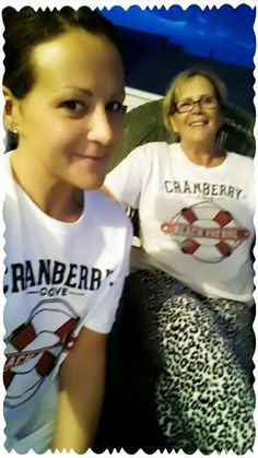 A lesson to us all: Animal print pajama bottoms go well with Cranberry Cove Beach Patrol T-shirt.... in case you were wondering. (6/16) Casey of Cranberry Cove  Krissy and Patty (sk)