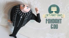 Despicable me Gru: How to make a Gru model gum paste or fimo minions tut...