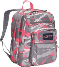 JanSport Big Student Backpack Fluorescent Pink Super Splash - via eBags.com!