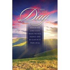Rejoice, Be Glad (Psalm 118:24) KJV Bulletins, 100