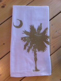 Theses 100% cotton flour sack towels are hand printed.  www.163designs.com