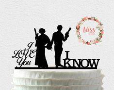 Han and Leia Cake Topper. I Love You, I Know Cake Topper. Retro Wedding Cakes, Gay Wedding Cakes, Funny Wedding Cake Toppers, Wedding Cake Prices, How To Dress For A Wedding, The Wedding Date, Wedding Ideas, Lace Wedding, Dream Wedding