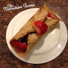 Easy Protein Fruit Crepes | Only 132 Calories | Protein-Packed & Delish |  For MORE RECIPES please SIGN UP for our FREE NEWSLETTER www.NutritionTwins.com