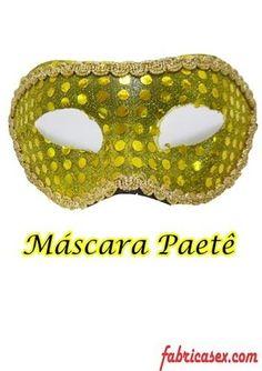 Máscara Paetê Dourada