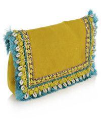 Matthew Williamson | Embroidered Suede Clutch |  Lyst
