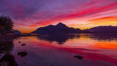 Cove Sunset, Howe Sound, British Columbia, Canada by Mark Bowen on British Columbia, Canada, Clouds, Sky, Mountains, Sunrises, World, Water, Landscapes