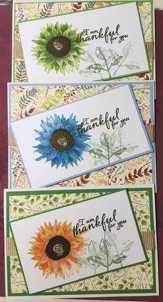 Card Making Inspiration, Making Ideas, Sunflower Cards, Birthday Card Sayings, Stamping Up Cards, Thanksgiving Cards, Fall Cards, Card Sketches, Halloween Cards