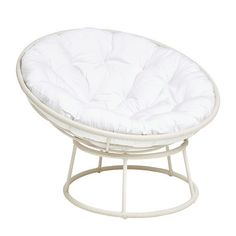 """Our iconic Papasan is hand-woven of synthetic rattan for incredible resilience and durability, then finished in a bright white and high-gloss lacquer."""" Papasan chair bowl and base sold separately. My New Room, My Room, Room Ideas Bedroom, Bedroom Setup, Decor Room, Bedroom Themes, Bedroom Designs, Papasan Chair, Teen Girl Bedrooms"""