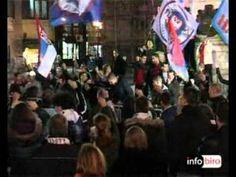 Протест на Тргу републике поводом ослобађања Харадинаја