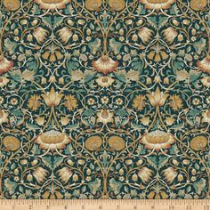 FreeSpirit presents Lodden in Autumn as part of the Standen collection by The Original Morris & Co. Cotton Curtains, Panel Curtains, Curtain Panels, Cotton Fabric, Art Nouveau, Art Deco, Morris Wallpapers, William Morris Wallpaper, William Morris Tapet
