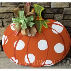 Pumpkin door hanger, fall wreath, fall door hanger , Halloween door hanger