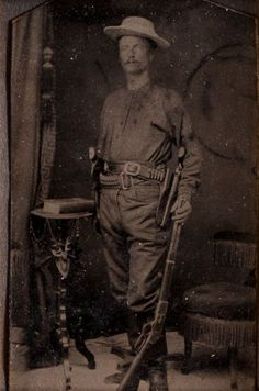 """Captain Junius """"June"""" Peak Tintype, circa 1878.... 