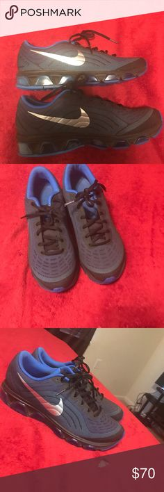 Blue and black air maxes Blue and black air max shoes Nike Shoes Sneakers