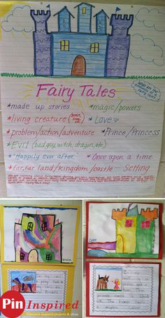 Fairy Tale Story Learning and Art Activity for Kids - learn all the parts of a fairy tale story and have a fun art project! Fairy Tale Activities, Art Activities For Kids, Classroom Activities, Fairy Tale Crafts, Fairy Tale Theme, Fractured Fairy Tales, Fairy Tales Unit, Traditional Tales, Kindergarten Literacy