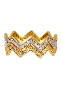 14K Gold & Sterling Silver Diamond Crown Ring Set - 0.80 ctw by Forever Creations USA Inc. on @HauteLook