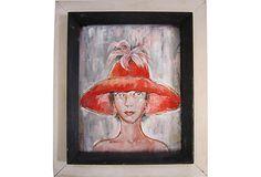 Woman in Red Hat on OneKingsLane.com